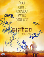 The Gifted (7) Dumont, Moyer, Acker +4 Authentic Signed 11x14 Photo BAS #A06893