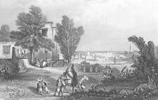 TUNIS City TUNISIA MEDINA QUARTER MARKET CARTHAGE ~ Old 1841 Art Print Engraving