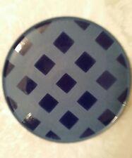 """Denby Reflex Large Round Platter 12.5"""" - checked pattern"""