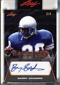 2021 Leaf Ultimate Sports - Signatures - Barry Sanders - 3/6