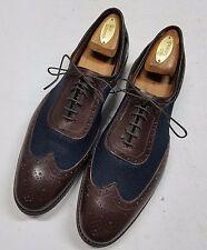 New ALLEN EDMONDS Sz 9D Black & Brown Spectator Oxfords Dress Shoes