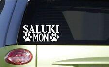 Saluki Mom *H866* 8 inch Sticker decal dog racing greyhound coursing