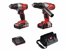 Einhell 4257200 Power X-change Combi and Drill Driver Twin Pack - Red