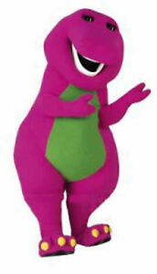 2021 Christmas Barney The Dinosaur Mascot Costume Party Suit Dress Adult Outfit