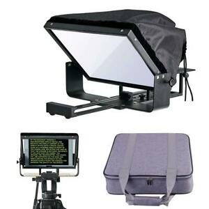"12"" Adjustable Smartphone Teleprompter Beam Splitter for Tablet-iPad-Smartphone"
