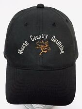 MOOSE COUNTRY OUTFITTING Hunting Wolf Bison Bear CANADA ALBERTA WILDERNESS HAT