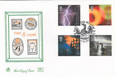 (05949) Gb Stuart FDC Fire & Light Tower Bridge Beacon London WC1 1 de febrero de 2000