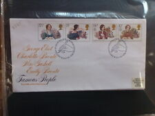 GREAT BRITAIN 1980 FAMOUS PEOPLE SET 4 STAMPS FDC FIRST DAY COVER