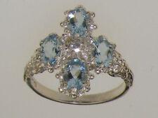 Diamond White Gold Round Fine Gemstone Rings