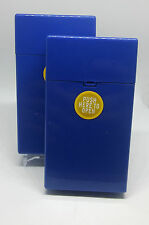 Eclipse Crayon Blue Push-N-Open Button 100s Size Cigarette Case - Lot Of 2