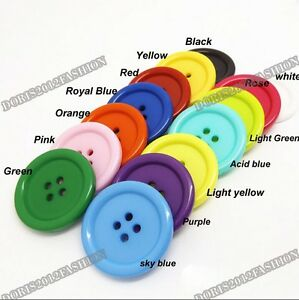 5pcs/lots Large Resin Coat Sewing 4-holes Round Buttons DIY 34mm 38mm 44mm 50mm
