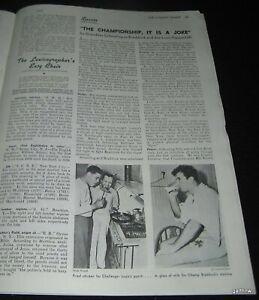 JAMES BRADDOCK PRE- JOE LOUIS FIGHT 1937 BOXING PICTORIAL MAX SCHMELING TROUBLE