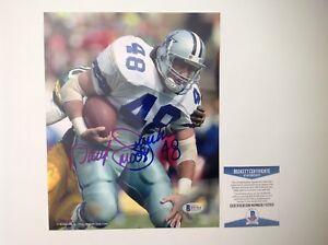 Daryl Moose Johnston Signed Autographed 8x10 Cowboys Photo Beckett BAS COA b