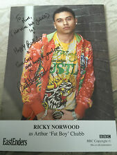 6x4 Hand Signed Photo of Eastenders Fatboy - Ricky Norwood Celebrity Big Brother