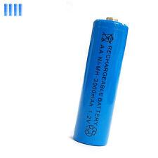 4 pcs AA 2A 3000mAh 1.2V Ni-MH rechargeable battery Solar Light MP3 Toy Blue
