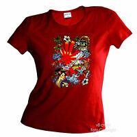 * Rock`n`Roll Gitarre Rockmusic Musik Gitarrist Damen Girl T-Shirt *2068