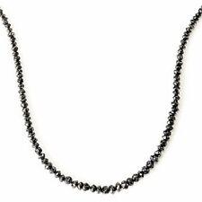 "Diamond Treasures 14 kt Gold 18"" 24ctw Black Rough Diamond Necklace"