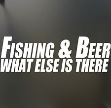 Fishing and Beer Sticker Funny Hater JDM car window decal