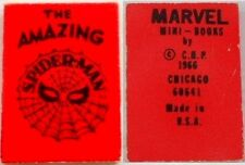 1966 MARVEL MINI BOOK AMAZING SPIDERMAN GIVEAWAY PROMO RED NM RARE SMALLEST