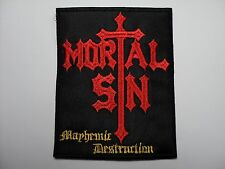 MORTAL SIN     EMBROIDERED PATCH