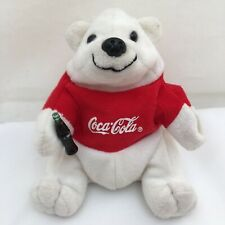 "Coca Cola Polar Bear Bean Bag Coke Bottle Vintage Plush 6"" Lovey Toy"
