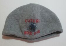 INFANT BOYS BABY GAP GRAY FUTURE ROCK STAR KNIT BEANIE HAT CAP BERET SIZE 6- 5cc0ae92282e