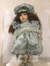 Leonardo Collection Hand Painted Porcelain Doll, Alice, 16 Inches Tall