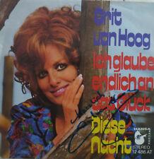 """7"""" 1973 RARE MINT- ! GRIT VAN HOOG Ich glaube endlich an das Glück / SIGNIERT !"""