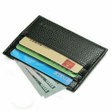 Mens Slim Leather Wallet Card Holder Front Pocket Wallets Credit ID Pocket Thin