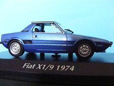 Fiat X1/9 1300 1974 Metallic Blue 1:43RD Scale Maxichamps Collectors Model