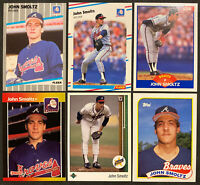 1988-1989 John Smoltz Rookie 6-Card Lot! Hall Of Famer! - World Series Champ!