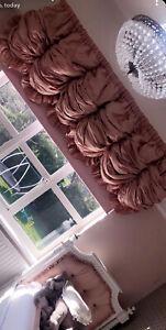 curtain pelmet Heavy Puffball Hand Made Beautifull