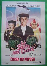 LA SOUPE AUX CHOUX-LOUIS DE FUNES/JEAN CARMET-ORIGINAL YUGOSLAV MOVIE POSTER '82