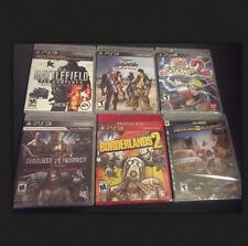 PS3 5 Game Lot Sealed Action/Shooter Naruto,Samurai Heroes,Battlefield And More!