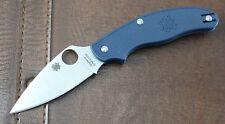 SC94PDBL Spyderco UK Pen Knife Dark Blue FRN Handle CPM-S110V Blade Made USA