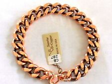 "NEW Solid Copper Heavy Chain Link 9"" U.S.A. Bracelet - Arthritis Relief Folklore"