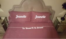 Personalized King size 4 piece bed sheet set