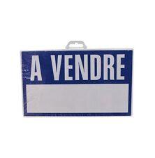 PLAQUE PANNEAU SIGNALISATION A VENDRE 330 X 200 MM PVC RIGIDE