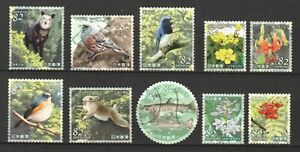 JAPAN 2019 NATURAL MONUMENTS SERIES 4TH ISSUE (SARUTOBI GORGE) SET OF 10 STAMPS