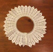 Vintage Victorian Crochet handmade White Collar