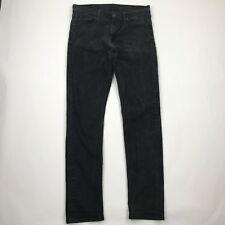Levi's 508 Men Slim Tapered Black Wash Stretchy Jeans sz 32x34 (Actual 33x33)