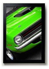 1970 Plymouth 'Cuda 440 Sassy Grass Green Print 13x19 Barracuda Art Shaker