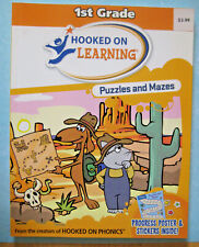 """""""Hooked on Learning"""" 1st Grade Puzzles and Mazes"""