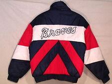 Atlanta Braves VTG Pro Player insulated stitched jacket / men L / great / b58