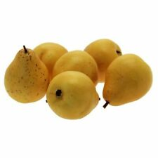 Artificial Fruit - 6 Pack of Yellow  Pears - Artificial Fruit Display