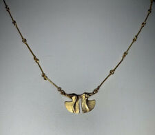 Lapponia Bjorn Weckstrom 585 Yellow Gold 14ky Necklace with Ginkgo Design