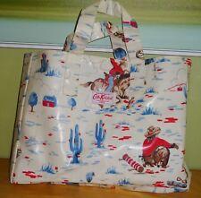 Cath Kidston Vintage Cowboy Oil Cloth Coated Canvas Shopper Tote Shoulder Bag