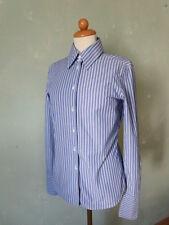 Strenesse Bluse weiss blau gestreift klassisch Business schick Gr. 36 S  (S37)*