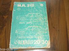 RENAULT 20 30 R20 R30 1979 Motor Technik Fahrwerk General WERKSTATT HANDBUCH