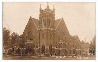 RPPC Congregational Church, Redfield, SD Real Photo Postcard *5J9